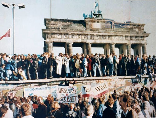 The Fall of the Berlin Wall. November, 1989